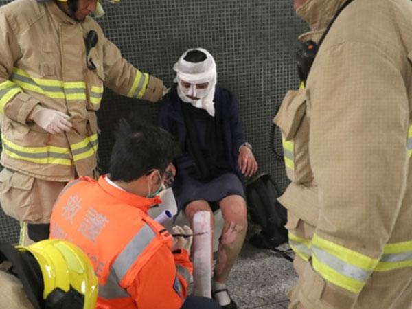 Tragis, Belasan Orang Terluka Usai Teror Bom Molotov Terjadi di MRT Hong Kong