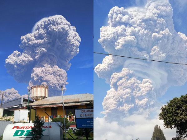 Gunung Paling Perkasa di Indonesia Sinabung Meletus, Begini Rekaman Kejadiannya