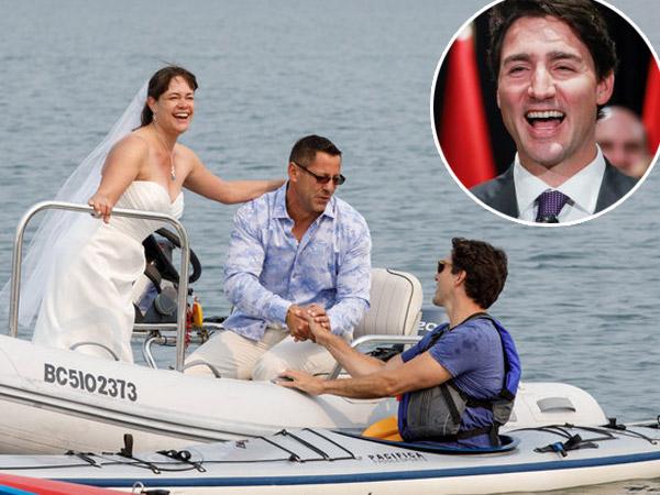 Heboh Presiden Tampan Kanada Cium Pengantin Baru di Atas Kapal, Bikin Meleleh!