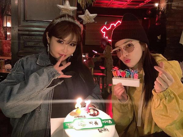 Member 2NE1 Kompak Rayakan Ulang Tahun Park Bom