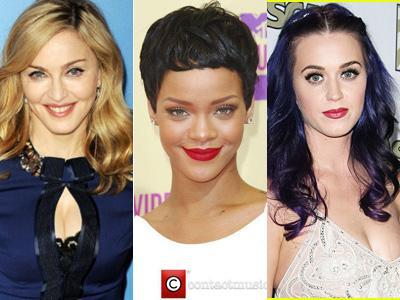 Rihanna Ingin Kolaborasi Bareng Madonna & Katy Perry