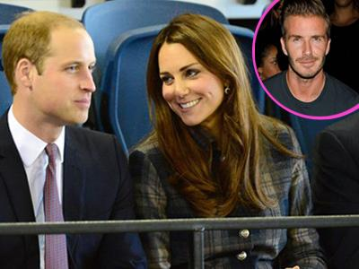 David Beckham Ikut Namai Bayi Kate Middleton