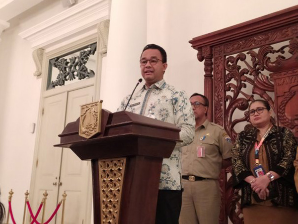 Indonesia Positif Corona, Anies Baswedan Hentikan Izin Keramaian