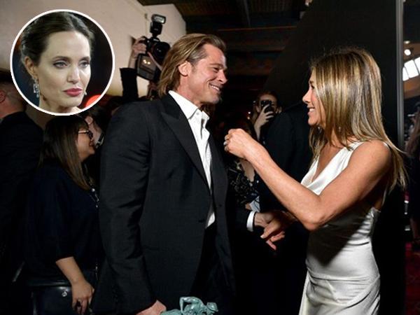 Reaksi Angelina Jolie Soal Kemesraan Brad Pitt dan Jennifer Aniston di SAG Awards
