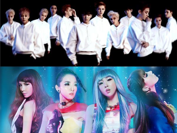 EXO dan 2NE1 Masuk Dalam Daftar Album Terlaris 2014 Versi Billboard!