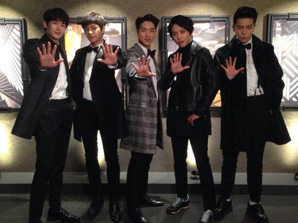 Tampannya Lima Anggota 'Lucky Boys' dalam Foto Rilisan SBS 'Music Festival 2014'