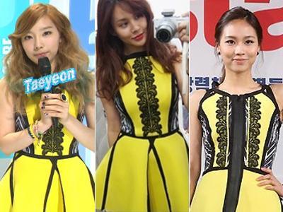 Taeyeon, Fei, dan Ivy Punya Gaun Kembar?