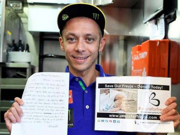 Valentino Rossi Lelang Surat Cintanya untuk Bantu Anak Penderita Kanker