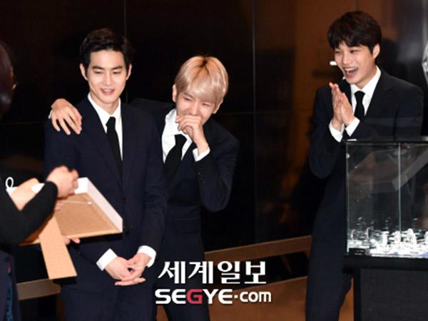 Momen Kocak EXO Saat Jadi Grup Idola K-Pop Pertama yang Terima Penghargaan Kehormatan Ini