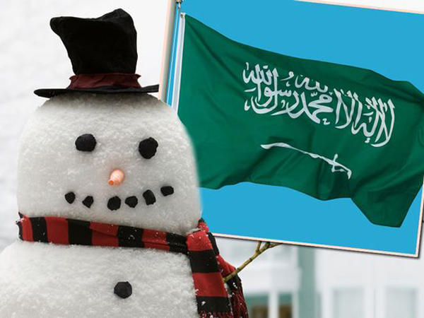 Salju Kembali Turun di Arab Saudi, Warga Dilarang Membuat Manusia Salju