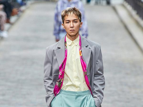 Gaya Chic Mino WINNER Debut Jadi Model Fashion Show Koleksi Musim Semi Louis Vuitton