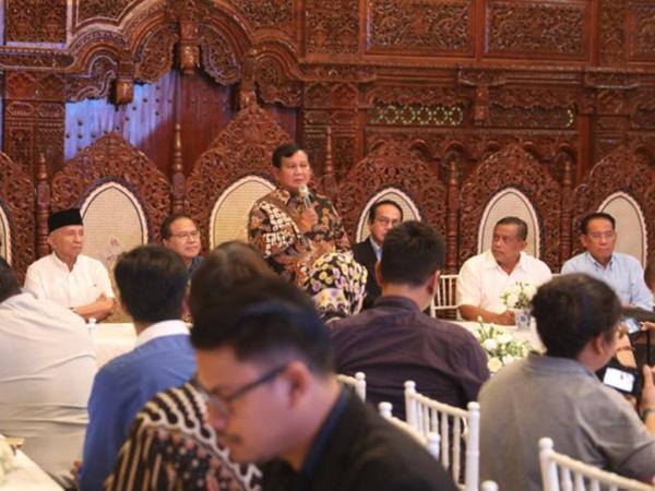 Temui Media Asing, Prabowo Ceritakan Dugaan Kecurangan Pemilu 2019
