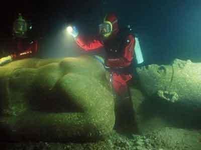 Wow, Kota Legenda Mesir yang Tenggelam di Temukan