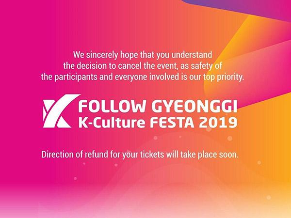 Konser Follow Gyeonggi K-Culture FESTA 2019 di Jakarta Batal