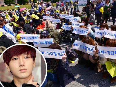 Walau Yesung Tak Pamit Masuk Wamil, Fans Tetap Padati Divisi 35 Jeonbuk
