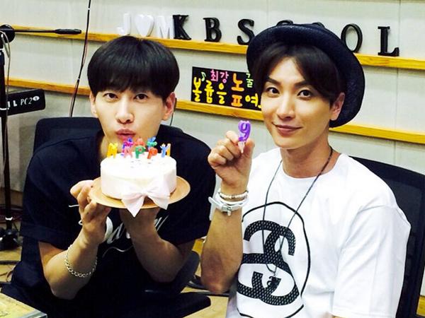 Leeteuk dan Eunhyuk Super Junior Rayakan Ulang Tahun 'Sukira' Ke-9