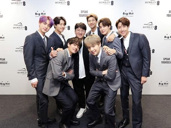 BTS dan Bang Shi Hyuk Rayakan Kesuksesan di Chart Billboard Lewat Telepon, Ada yang Menangis?