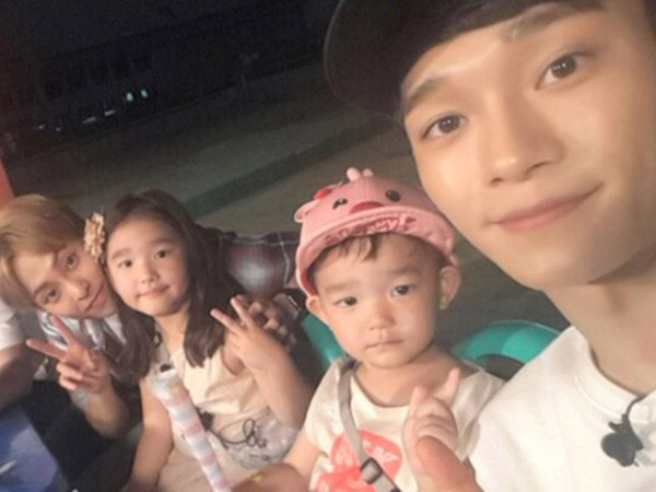 Ketemu 'Kembaran', Begini Keseruan Chen dan Xiumin EXO Main Bareng So Eul dan Da Eul