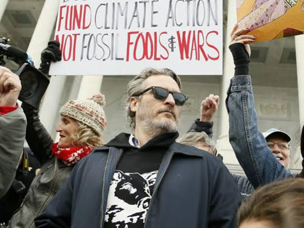 Demo Soal Perubahan Iklim, Joaquin Phoenix Ditahan Polisi