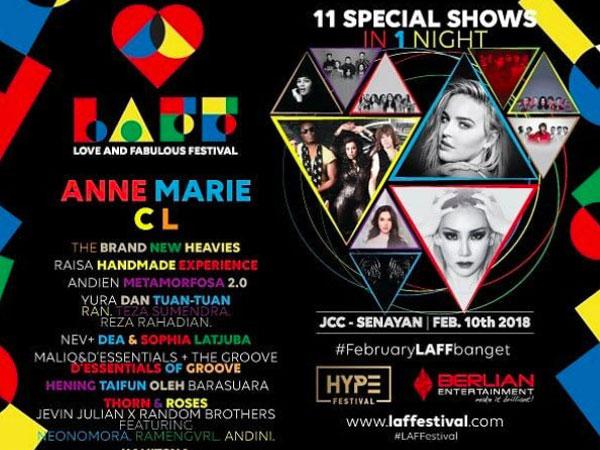 Bersiap, Raisa Hingga CL Bakal Meriahkan LAFF Festival Indonesia!