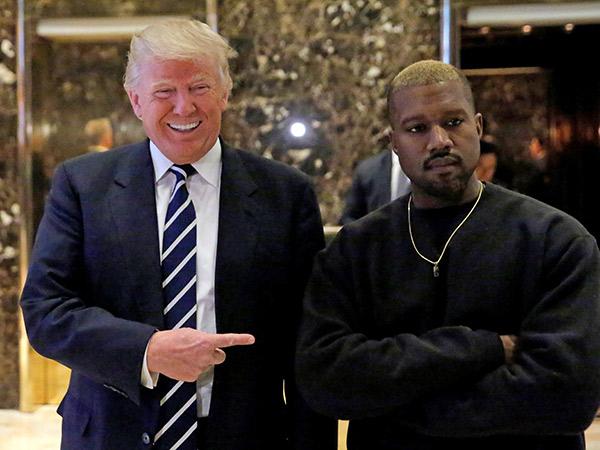 Berlawanan Politik, Kanye West Doakan Kesembuhan Donald Trump dan Istri