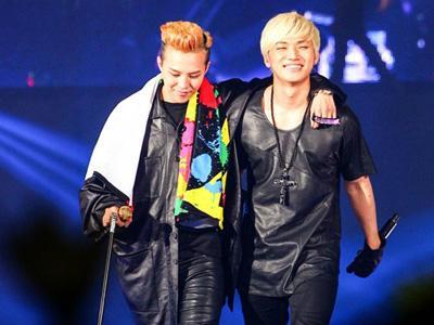 Masih Cedera, G-Dragon Didampingi Daesung dan Taeyang di Konser Solonya