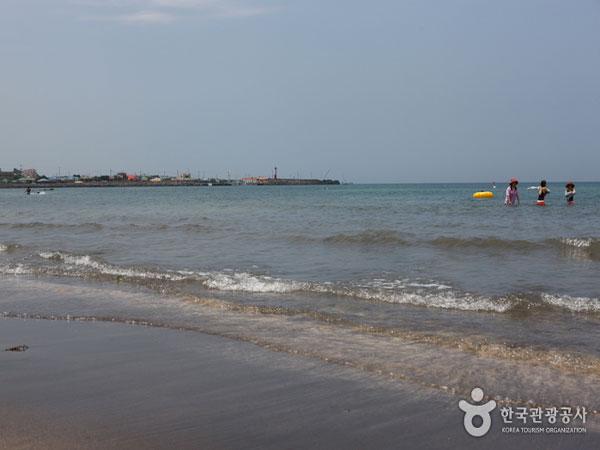 'Mengubur Diri' di Pantai Pasir Hitam Samyang yang Banyak Manfaat