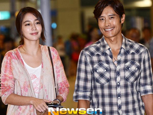 Tunjukkan Rumah Tangganya Akur, Lee Min Jung Susul Lee Byung Hun ke Amerika