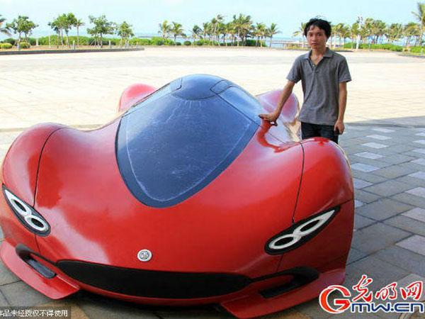 Wow, Pria Ini Buat 'Supercar' Hanya dengan Modal Rp 64 juta!