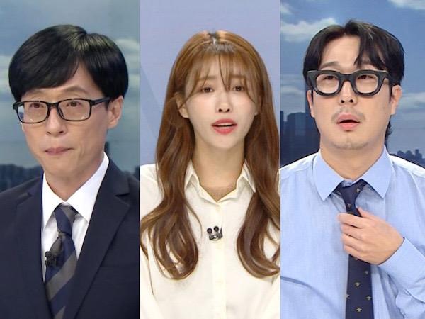 Yoo Jae Suk, Mijoo Lovelyz, dan HaHa Kena Prank Jadi Pembawa Acara Berita