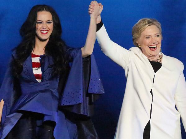 Jadi Pendukung Setia, Intip Totalitas Katy Perry Demi Kemenangan Hillary Clinton!