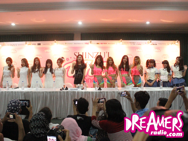 Press Conference Shinzu'i White Concert with SISTAR, A Pink, Soomin, dan JKT48