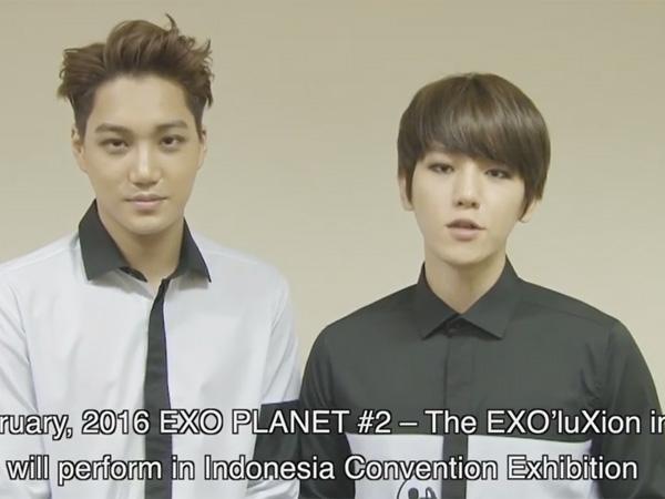 Wakili EXO, Kai dan Baekhyun Sapa Fans Indonesia Jelang Konsernya di Jakarta!