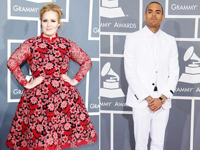 Tak Sopan di Grammy Awards, Chris Brown Kena Omel Adele?