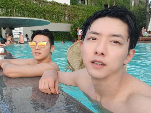Foto-foto Keseruan Jungshin dan Minhyuk CNBLUE Liburan Bareng di Bali