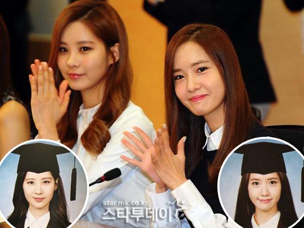 Cantiknya YoonA dan Seohyun SNSD Saat Mengenakan Toga Wisuda!