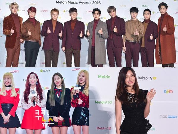 Simak Gaya Fashion Para Idola K-Pop di Red Carpet MelOn Music Awards 2016 (Part 2)