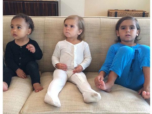 Lucunya, Pajama Party a la North West, Penelope dan Mason Disick!