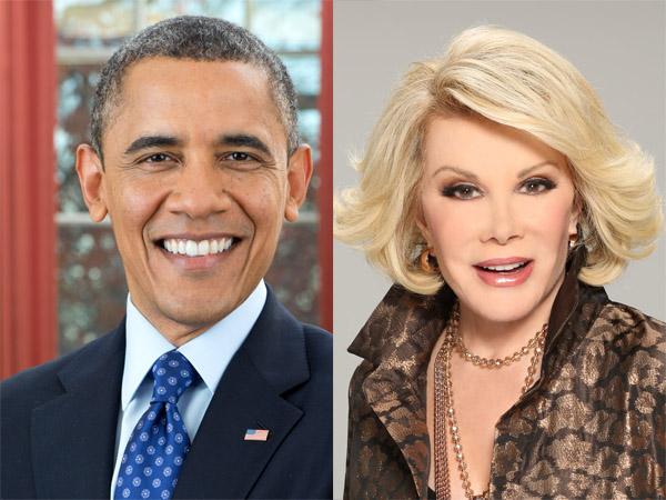 Fans Berat, Barack Obama Tulis Surat Untuk Joan Rivers