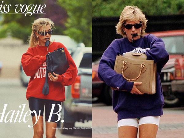 Peringati 20 Tahun Kematian, Hailey Baldwin Bergaya Ala Putri Diana