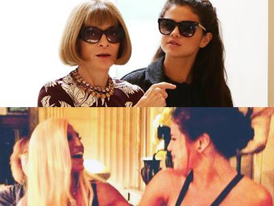OMG! Selena Gomez Hangout Bareng Donatella Versace dan Anna Wintour di Milan