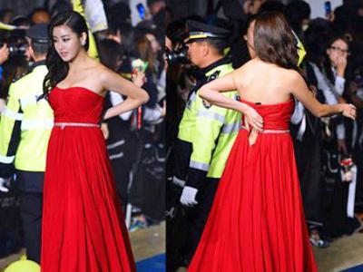 Ups, Gaun Kang Sora Sobek di Busan International Film Festival!