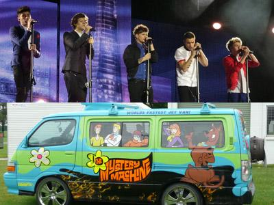 One Direction Akan Tur di Amerika dengan 'Mistery Machine' dalam Kartun Scooby Doo?