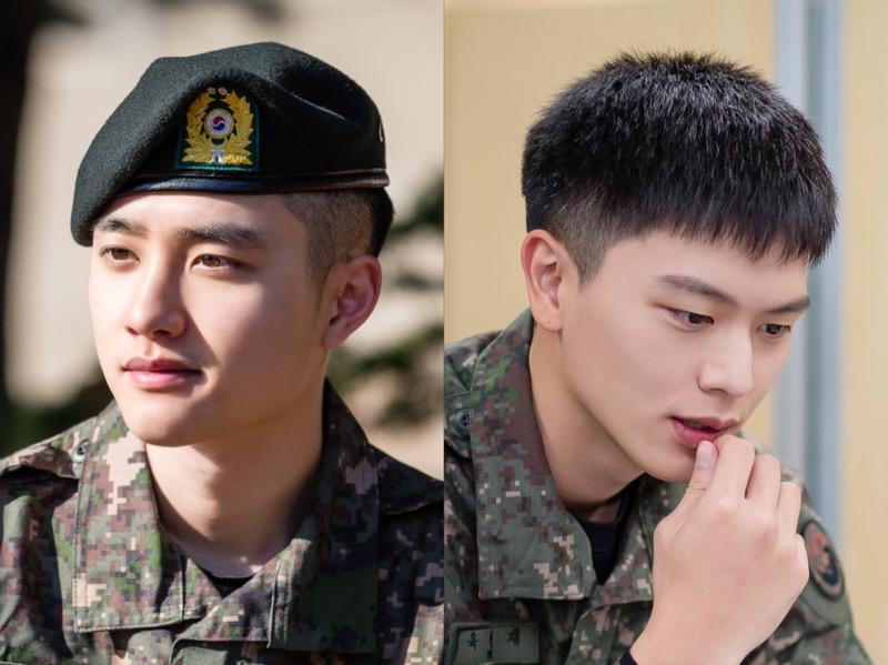 Foto-foto Terbaru D.O EXO dan Sungjae BTOB di Militer, Makin Ganteng!