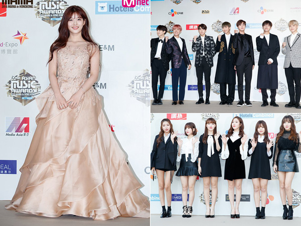 Simak Modisnya Red Carpet Fashion Para Presenter dan Idola K-Pop di MAMA 2016 (Part 1)
