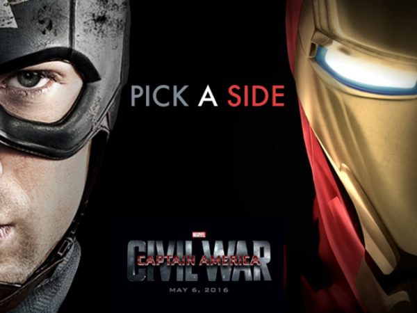 Keren, Video Opening 'Captain America: Civil War' Ini Tuntut Fans Pilih 2 Kubu Super Hero!