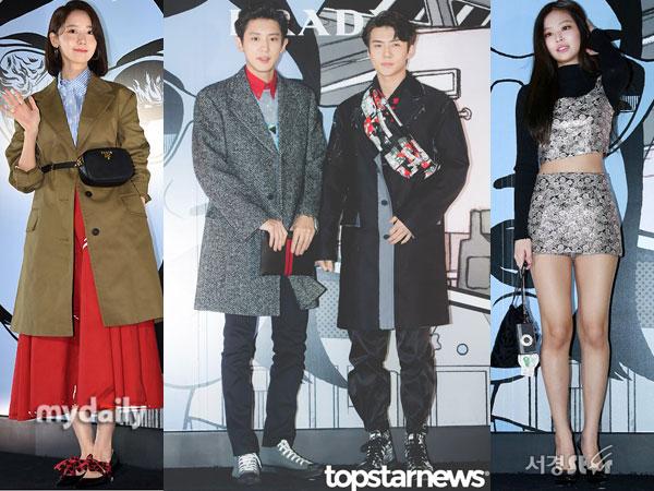 Penampilan Stylish Seleb Korea di Prada Comics Collection Party