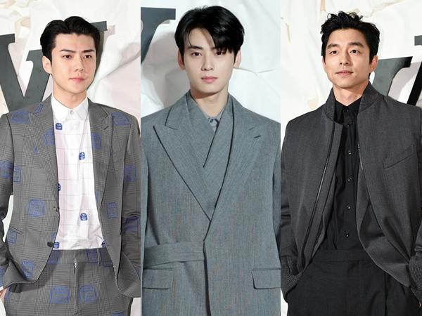 Serba Abu-abu, Tampannya Gong Yoo Hingga Sehun EXO Hadiri Acara Louis Vuitton Korea