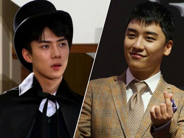 'Maknae Power', Seungri BIGBANG Tunjukkan Dukungan untuk Sehun EXO