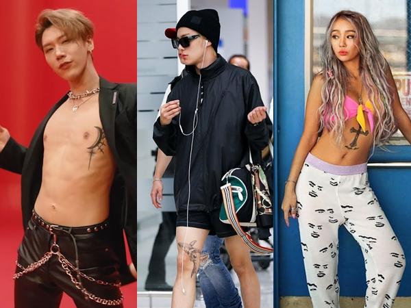 Cara Unik 3 Idol K-Pop Tutupi Bekas Luka dengan Tato